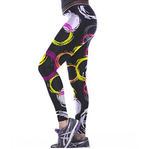 THENICE Damen Sexy Joga Elastic Strumpfhosen Leggings ring