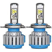 owlview CREE Chip LED coche faro H4(9003/hb2) LED haz de Hi-Lo haedlight CREE bombillas convesion Kits + Canbus (1par y # xFF09; Auto bombilla cabeza niebla lámpara Beam 70W 8000LM 6000K Blanco 12V
