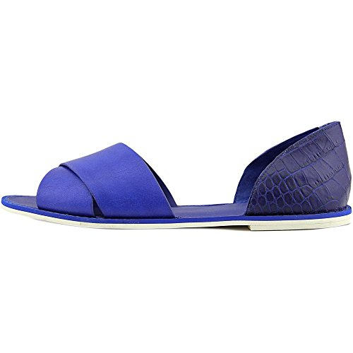 Vince Ida Cuir Chaussure Plate Cobalt
