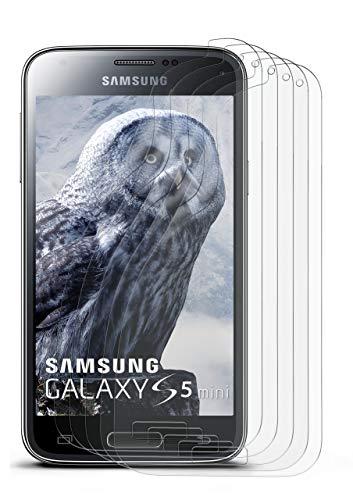 5X Samsung Galaxy S5 Mini | Schutzfolie Matt Display Schutz [Anti-Reflex] Screen Protector Fingerprint Handy-Folie Matte Displayschutz-Folie für Samsung Galaxy S5 Mini Displayfolie (Screen Protector S5-fingerprint)