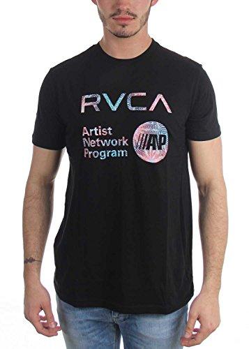 rvca-t-shirt-homme-noir-small