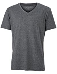 James & Nicholson Herren Langarmshirt T-Shirt Mens Heather
