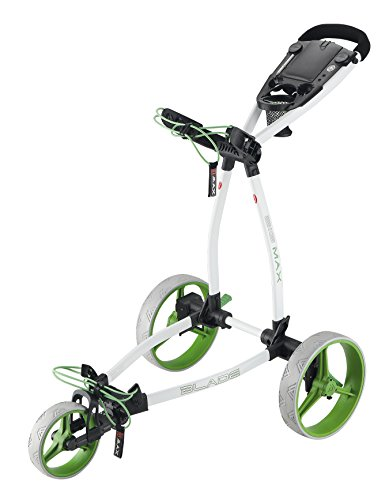 Big Max Blade Plus Golf Trolley, Color- White/Lime
