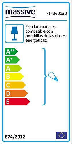 Massive Lima - Aplique descendente, Iluminación Exterior, Aluminio, 60 W, 220V - 240V, Color Negro