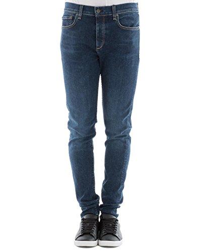 Rag & Bone Herren M1224k520dukdukes423 Blau Baumwolle Jeans (Rag Und Herren Bone)
