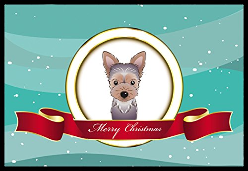 Caroline 's Treasures bb1542mat Yorkie Puppy Merry Christmas Innen-matte, 45,7x 68,6cm Multicolor (Welpen-flag)