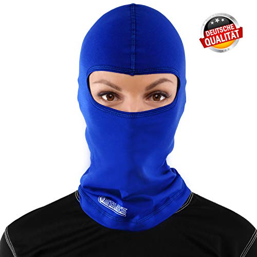 Starks Sturmhaube Motorrad Sommer Balaclava Herren Fahrrad Sturmmaske | 90% High Quality Baumwolle Quick Dry, Protect From Dust Sun Wind | Ideal for Summer Extreme Sport Rad Motorcycle Bike Outdoor, One Size, Blau
