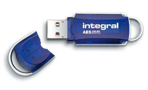Integral Courier USB-Stick 16GB mit 256 Bit AES Verschlüsselung, FIPS 197