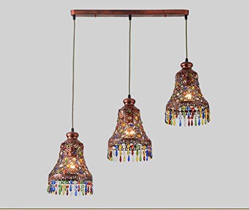 Preisvergleich Produktbild Kleine Kronleuchter Thai Style Farbe Kristall Kronleuchter Bar Esstisch Aisle Eisen Kronleuchter (ohne Lichtquelle) ( größe : Einzelkopf )