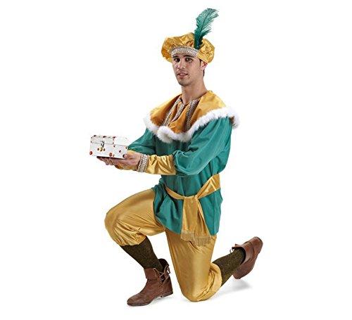 Imagen de disfraz o traje paje del rey melchor extra adulto