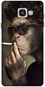 The Racoon Grip Smoking Monkey hard plastic printed back case / cover for Samsung Galaxy A7(2016)