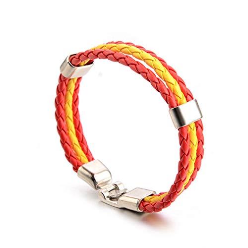 Modeschmuck Aus Spanien - SUNSKYOO Weave Flag Farbe Leder Armband
