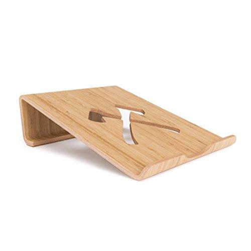 Woodcessories - EcoLift Mini Laptop Edt. - Premium Design Laptopständer, Laptophalter, Stand für alle Macbooks & diverse Notebooks aus Holz (Bambus)