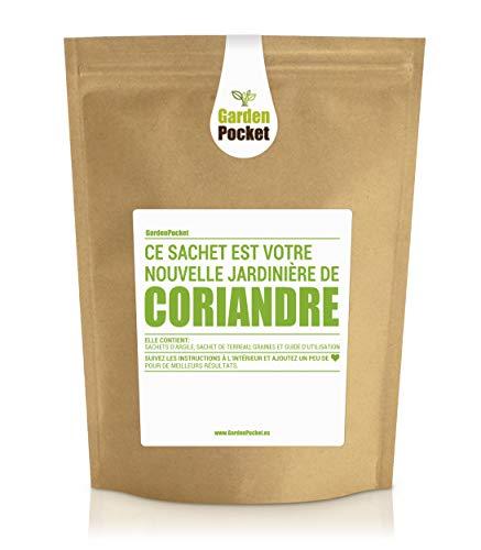 Garden Pocket - Kit de culture d'herbes aromatiques CORIANDRE - Sac de pot de fleur