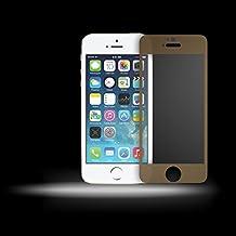 Mocca Design FPVTIP5 Protector de pantalla en cristal templado para iPhone 5/5S/5C-amarillo transparente