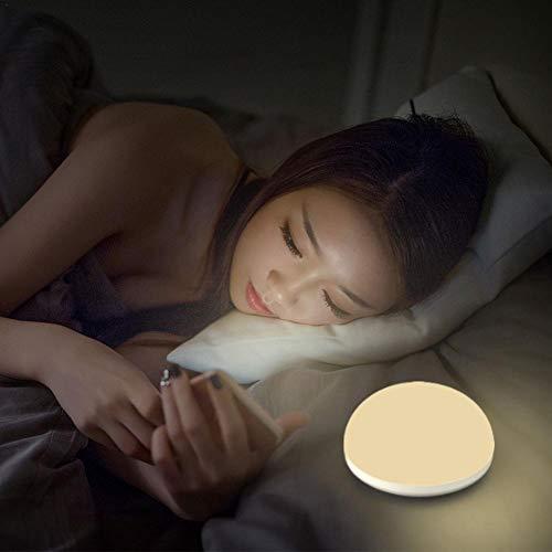Luz nocturna continua regulable niños,  Luz nocturna de bebé,  Lámpara cabecera por amamantar,  2 temperatura color 2500k/5000k función de memoria,  control táctil luz nocturna para sala cocina dormitorio