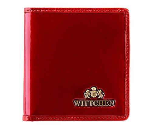 WITTCHEN Portafoglio, Dimensione: 9,5x10cm, Rosso, Materiale: Pelle verniciata, Orizzontale, Collezione: Verona - 25-1-065-3 Rosso