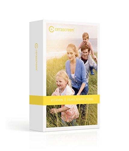 cerascreen Vitamin D FAMILIENPACKUNG Bluttest Kit – 4 x Vitamin D3 Spiegel per Bluttest von Zuhause messen | Vitamin D Test | Jetzt Vitamin D Mangel Test online kaufen