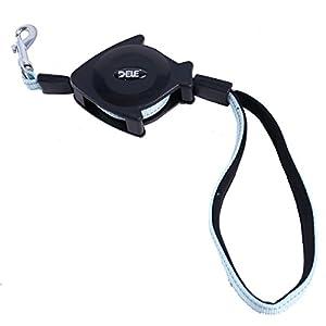 GHC-CASES-22 Les Fournitures pour Chien et Chat, Chien de Compagnie Facile à Déplacer Le Dispositif de Chien 1,4 Mètres Noir