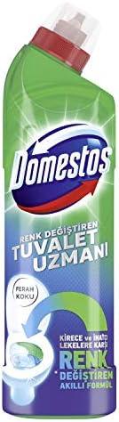 Domestos Tuvalet Temizleyici Renk Değiştiren Tuvalet Uzmanı Kireç Çözücü 750 ml 1 Adet