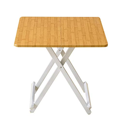 YXX Tableau Se Pliant supérieur en Bois imperméable pour des Enfants, Tables à Manger de Cuisine à la Maison de Travail d'ordinateur de Pied (Taille : 58x58x55cm)