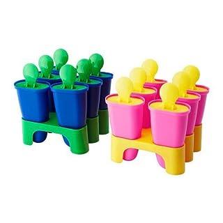 IKEA CHOSIGT Form für Eis am Stiel 6tlg.; in gelb/rosa