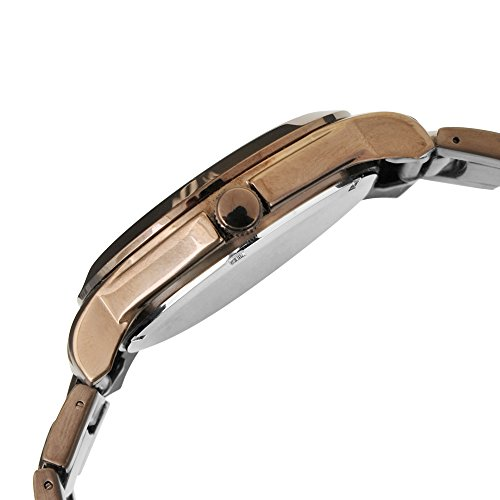 Oskar Emil, klassische Uhren, Classic men'Oskar Emil Damenuhr Wellington Brown men's Armbanduhr Analog Quarz Edelstahl Armband Braun-Gummistiefel, braun - 3