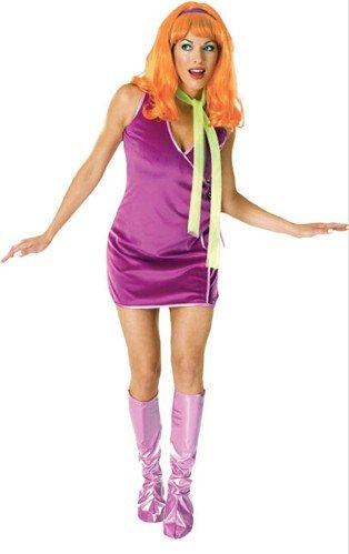 Daphne Erwachsene Kostüme (Original Lizenz Daphne Kostüm SCOOBY-DOO Mystery Machine Geisterjäger Mystery Mysteri Gr.)