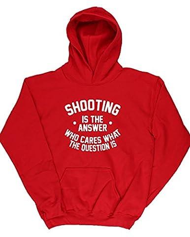 HippoWarehouse - Sweat-shirt à capuche - Fille - rouge - 11 ans