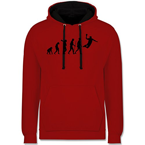 Evolution - Handball Evolution - Kontrast Hoodie Rot/Schwarz