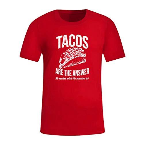 kolila Mens Tee Kurzarm Brief gedruckt T-Shirt T Shirt Herren Rundhals Hip Hop Tops Bluse Oberteile Pullover