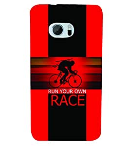 PrintVisa Sports Race 3D Hard Polycarbonate Designer Back Case Cover for HTC One M10