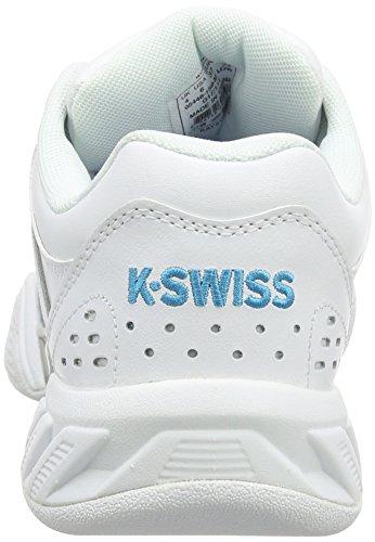 K-Swiss Performance Damen Bigshot Light LTR Carpet Tennisschuhe Weiß (White/Hawaiian Ocean)