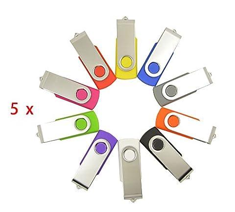 FEBNISCTE 50 Pack Swivel 1 GB USB 2.0 Daumen-Stock-Feder-Antrieb