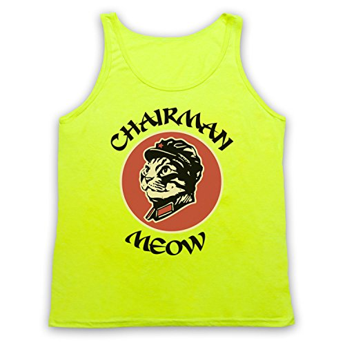 Chairman Meow Cat Tank-Top Weste Neon Gelb