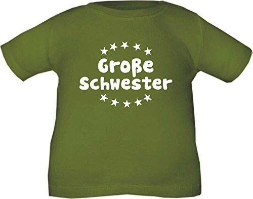 Kinder T-Shirt Große Schwester / Größe 60 - 164 in 5 Farben Olive