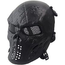 51291e0b6d1ac Airsoft Paintball Forma Del Rostro de Calavera La TáCtica Militar de Halloween  Mascara de Esqueleto CS