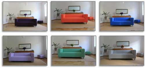 buntaneo Bezug passend für IKEA Klippan 2er-Sofa, verschiedene Farben