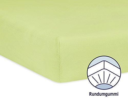 Julius Zöllner 8320113340 – Spannbetttuch Jersery für Kinderbett, Größe: 60 x 120 cm/70 x 140 cm, Farbe: grün - 2