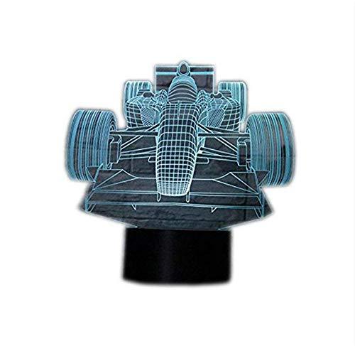 Wangzj 3D Illusion Lamp F1 Racing Car Led Night Light / 7 colori Touch Switch Camera da letto Decorazione Illuminazione/Bambini regalo di NataleF1 R