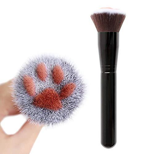 SUNDELLAO 1pcs Uña Gato Maquillaje Forma Cepillo