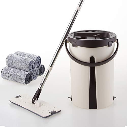 YXWtba Wischmop Trockener Naßwischmoppbehälter für Haushalt (fünf) Moppgröße: 40 * 29 (Farbe : A)
