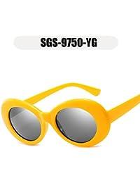 OMAS 2018 moda nuevas gafas de sol mujeres hombres diseñador de la marca oval gafas de sol mujeres gafas gafas de peso caja amarilla pieza de gris