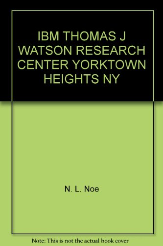 IBM THOMAS J WATSON RESEARCH CENTER YORKTOWN HEIGHTS NY