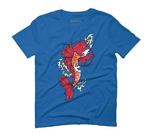 River God Men's Graphic T-Shirt - Design By Humans Royal Blue