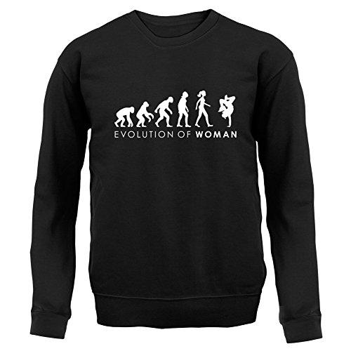 Dressdown Evolution of Woman - Breakdancerin - Kinder Pullover/Sweatshirt - Schwarz - XXL (12-13 Jahre) -