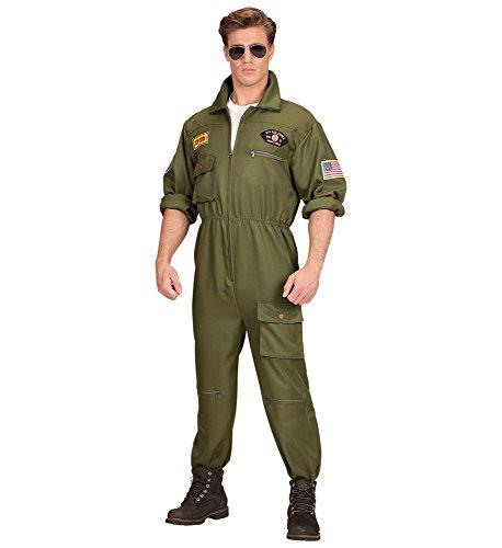 (shoperama Herren-Kostüm Kampfjet Pilot Kampfflieger Piloten-Overall Jetpilot Kampfpilot Flieger Army, Größe:L)