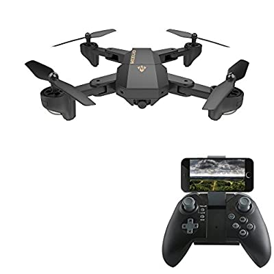 DeeXop Mini Foldable Rc Drone 2.4GHz 6-Axis Gyro FPV VR Wifi Rc Quadcopter with HD 720P 2MP Camera Remote Control Drone.
