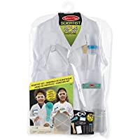 Melissa & Doug 18536 Scientist Role Play Costume Set,White
