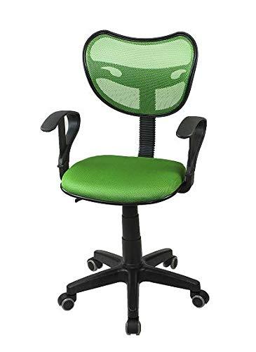 Profiseller - Sedia Girevole Professionale, ergonomica, ventilata, Modello PS 89 Verde